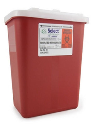 Prevent® Standard Biohazard Infectious Waste Sharps Containers 2 Gallon - 047