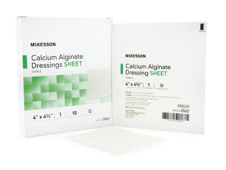 "McKesson Calcium Alginate Sterile Sheet Dressing 4"" x 4-3/4"" - 3562"