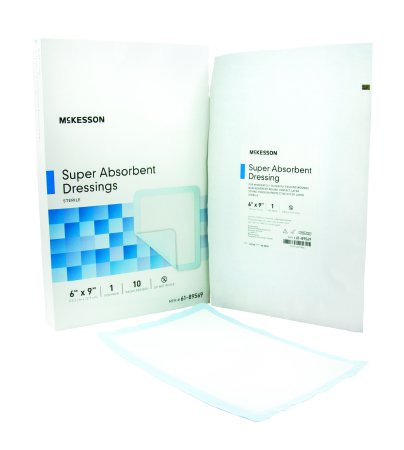 "McKesson Sterile Super Absorbent Dressings 6"" x 9"" - 61-89569 - Medsitis"