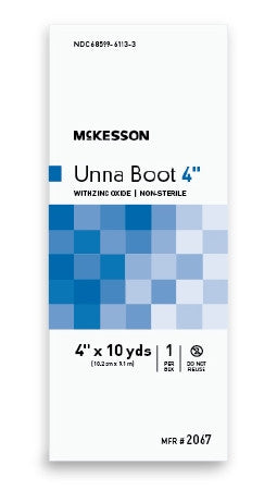 "McKesson Unna Boot Cotton Zinc Oxide 4"" - 2067"
