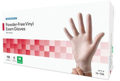 McKesson Vinyl Exam Gloves PF - 14-1XX