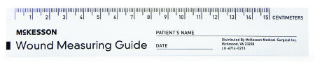 "McKesson Wound Measuring 6"" Ruler - 533-LR/50 - Medsitis"