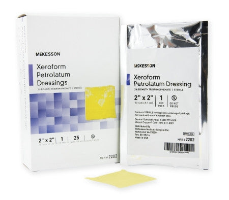 "McKesson Xeroform Petrolatum Dressing Gauze Bismuth Tribromophenate 2"" x 2"" - 2202"