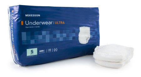 McKesson Disposable Adult Pull-On Protective Underwear (Small) UWBSM - Ultra Absorbent