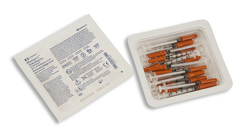 Monoject™ Standard Tuberculin Syringes Allergy Trays - 888150