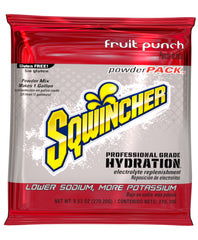 Sqwincher 1 Gallon Electrolyte Powder Pack Drink Mix Fruit Punch - X380-MC600