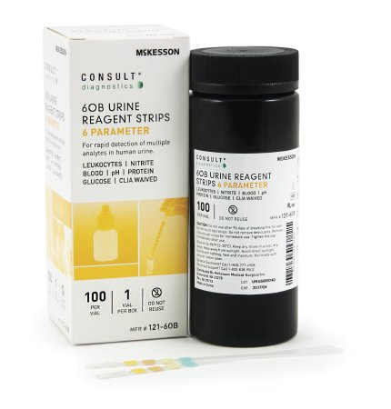 Consult® Urinalysis Reagent 6OB Test Strips - 121-6OB
