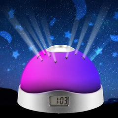 LED Table Lamp w/ Projector, Music, Alarm/Clock, Calendar & Thermostat