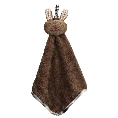 Kitchen Hanging Hand Towel with Animal Head Kid Friendly
