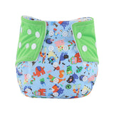 Baby diaper Infant Printed Cloth Diapers Reusable Nappy Washable Snap Nappy