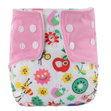 Baby diaper Infant Printed Cloth Diapers Reusable Nappy Washable Snap Nappy - Medsitis