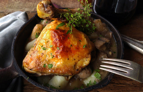Coq au Vin (aka Chicken in Red Wine Sauce)