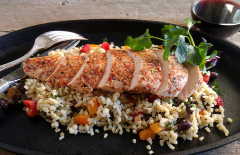 Grilled Piri Piri Chicken Breast with Mexican Firecracker Rice