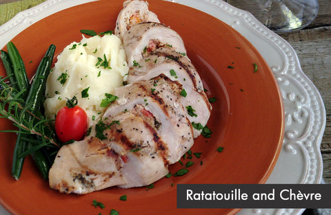 Provençale Ratatouille and Chèvre Stuffed Chicken Breast