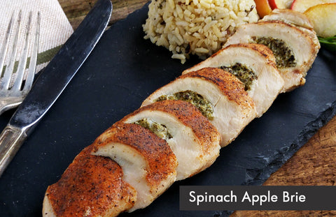 Spinach, Apple and Brie Stuffed Chicken Breast