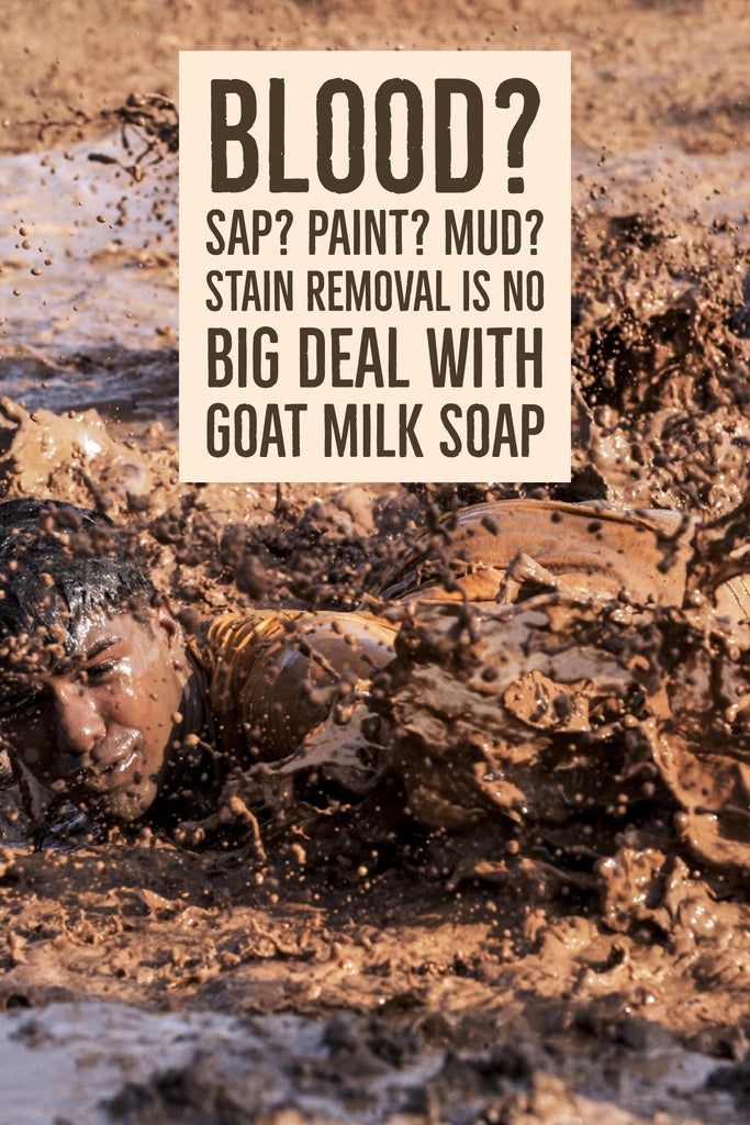 Blood? Sap? Paint? Mud? Stain Removal is No Big Deal with Goat Milk Soap