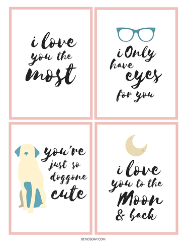 Free Printable Valentine's Day Cards - Bend Soap Company