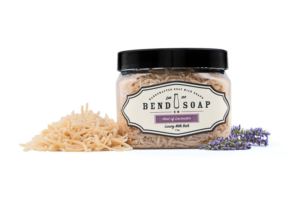 Hint of Lavender Goat Milk Bath Shreds in Container