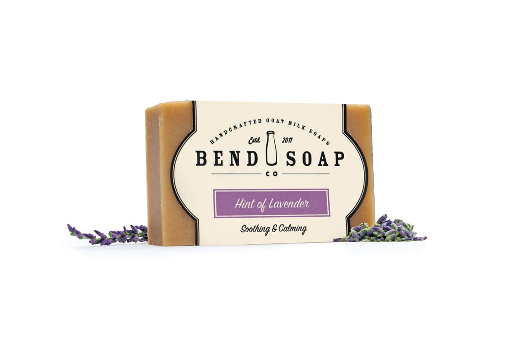 Full Size Bar of Hint of Lavender Goat Milk Soap