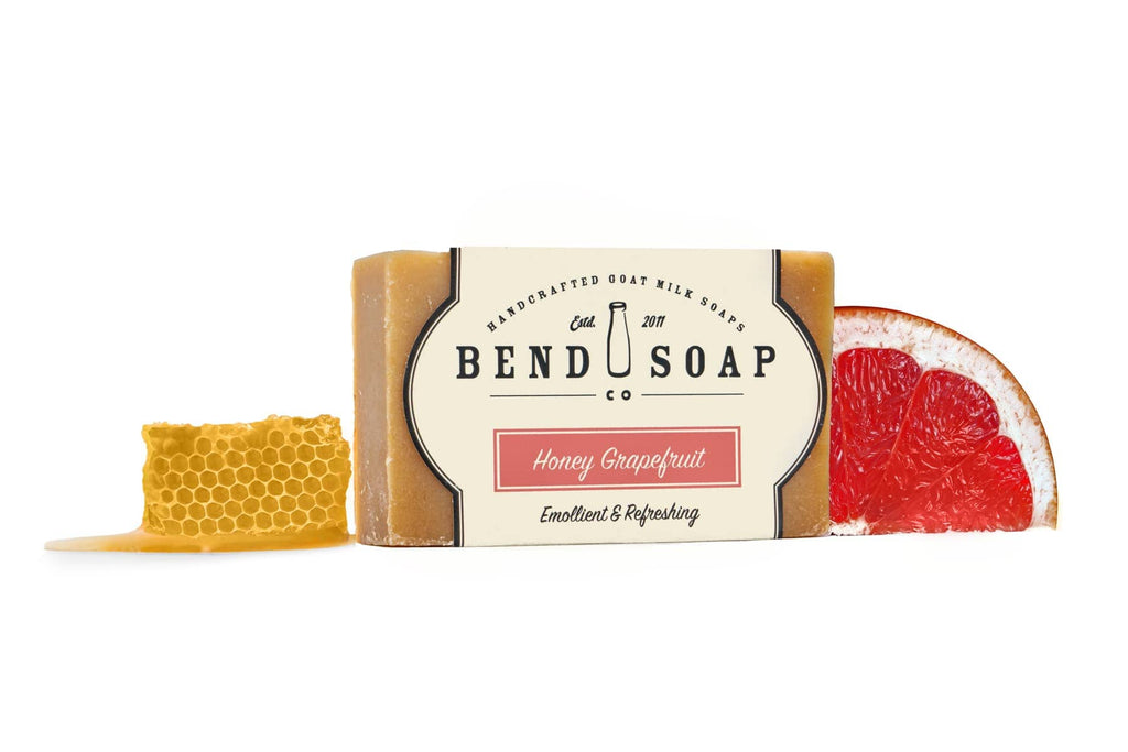 Full Size Bar of Honey Grapefruit Goat Milk Soap
