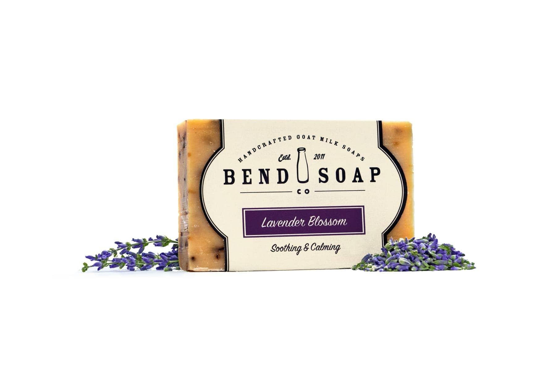 Full Size Bar of Lavender Blossom Goat Milk Soap