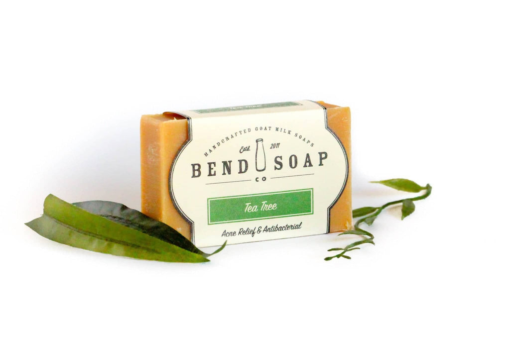 Full Size Tea Tree bar of soap wrapped in Tea Tree label