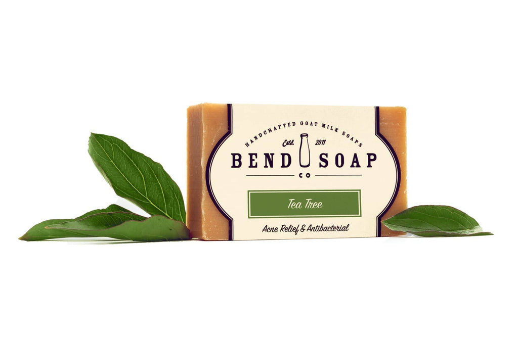 Full Size Tea Tree Bar of Goat Milk Soap