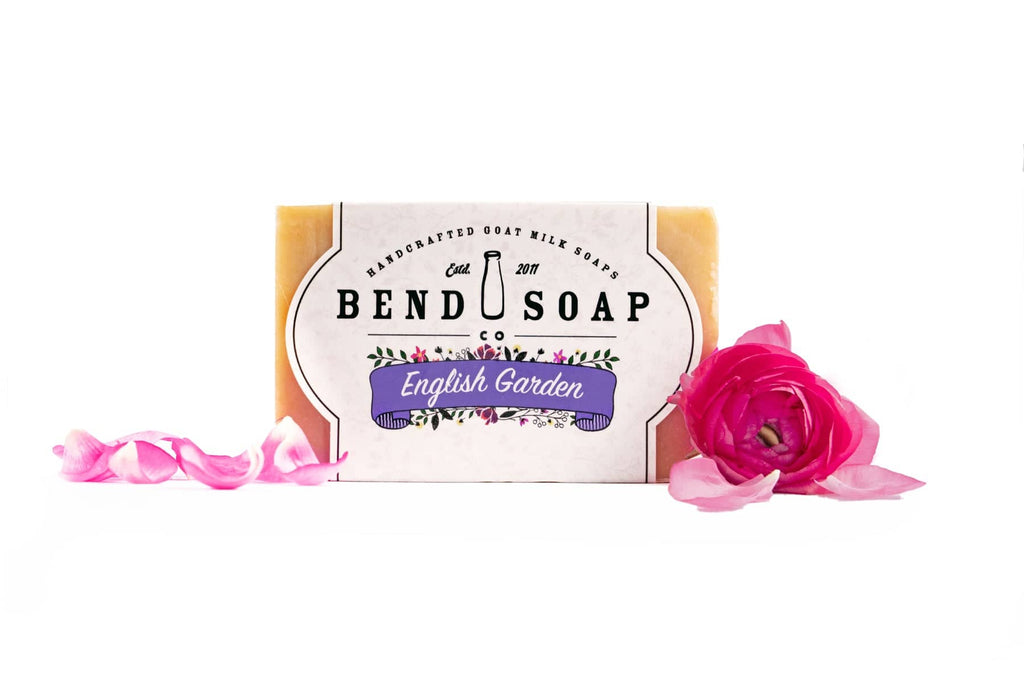 English Garden Goat Milk Soap with Fresh Flower Pedals