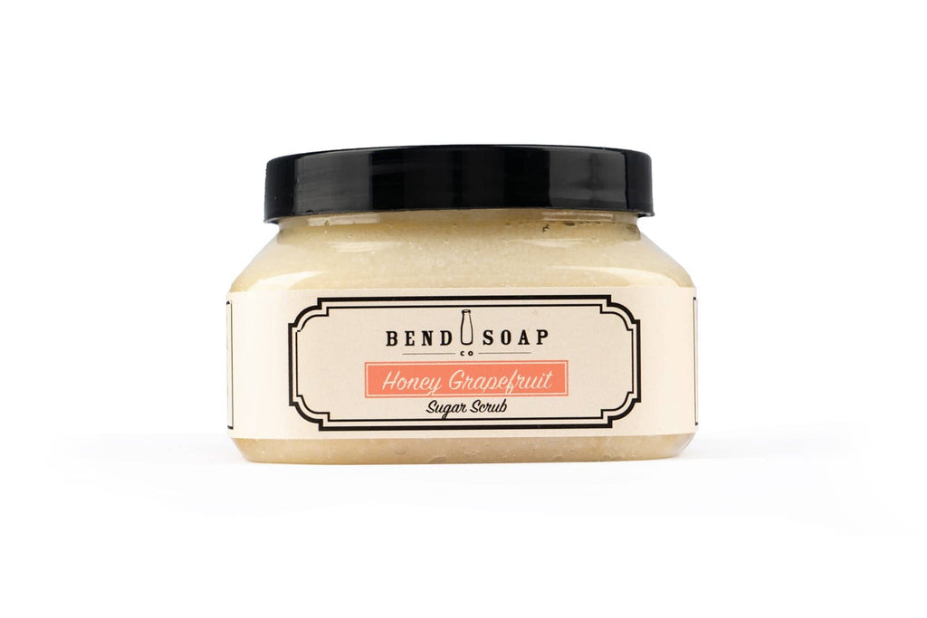 Bend Soap Company Honey Grapefruit Sugar Scrub in 10oz Container on White Background