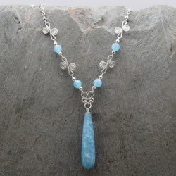 Sisa Angelite Drop Necklace