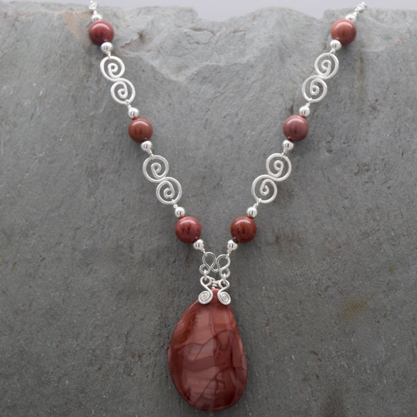 Deep Imperial Jasper Necklace