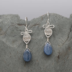 Kindi Kyanite Teardrop Earring