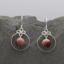 Encircled Imperial Jasper Earring