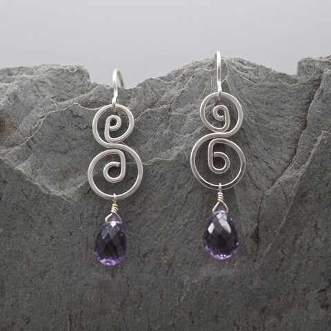 Pachamama Faceted Amethyst Earring