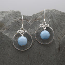 Encirlced Angelite Earring
