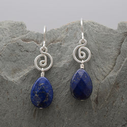 Pacha Faceted Lapis Lazuli Teardrop Earring