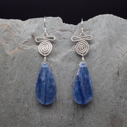 Kindi Long Kyanite Earring