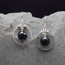 Encircled Onyx Earring