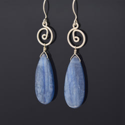 Kyanite Large Drop Earrings