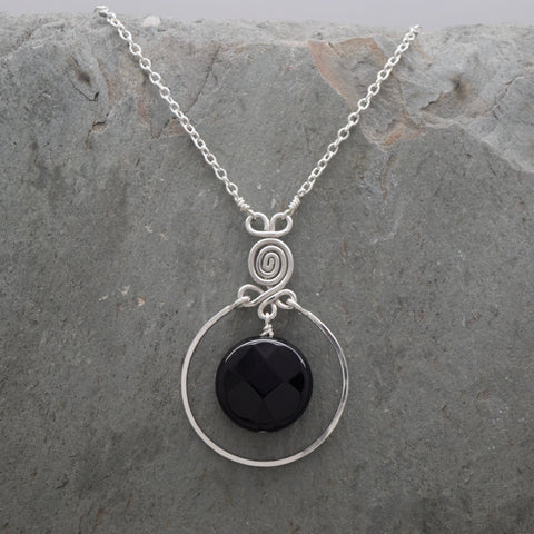 Encircled Onyx Necklace