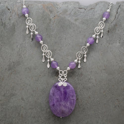 Featherette Lavender Amethyst Necklace