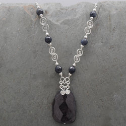 Hypersthene Pachamama Necklace