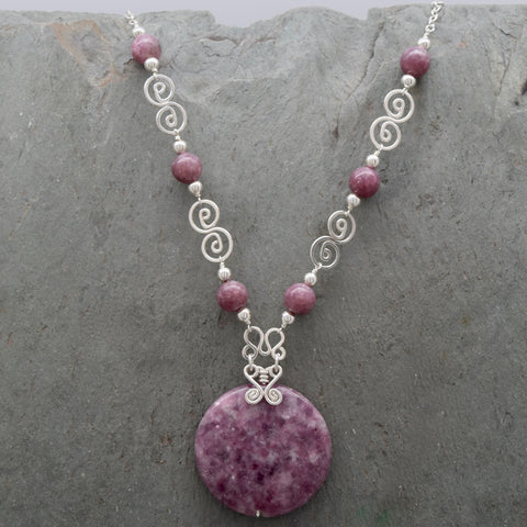 Lepidolite Jatun Round Necklace
