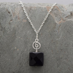 Pacha Square Onyx Necklace