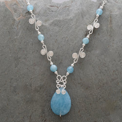 Sisa Angelite Teardrop Necklace