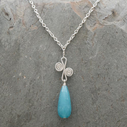 Sisa Drop Necklace Angelite