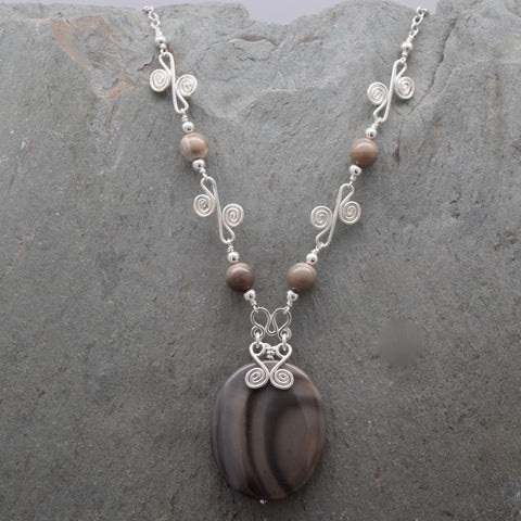 Sisa Porcelain Jasper Necklace