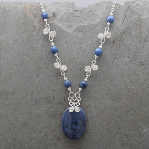 Sunset Dumortierite Sisa Necklace