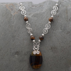 Tiger Eye Oval Necklace