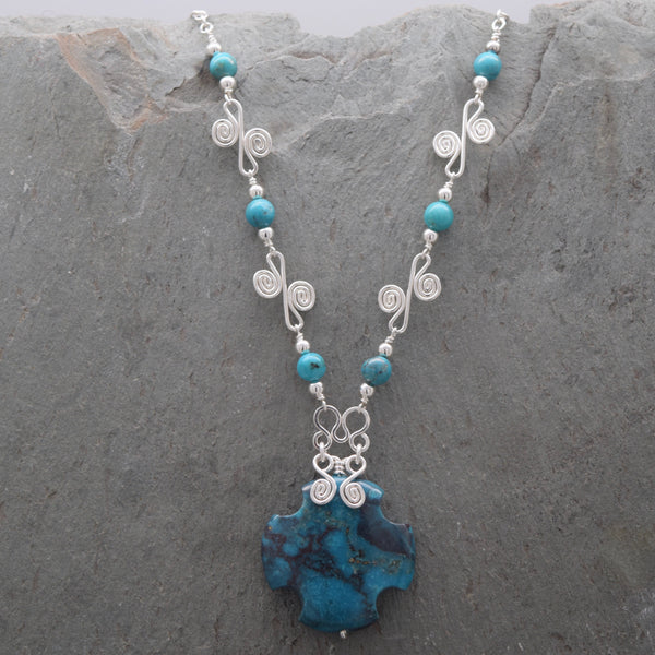 Turquoise Cross Sisa Necklace